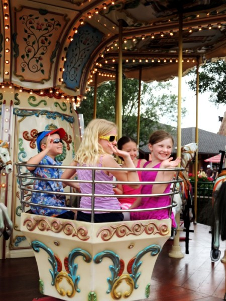Disney Social Media Moms Downtown Disney Carousel